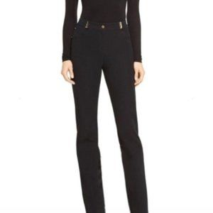 St. John Sport Navy Straight Leg High-Rise Pants Size 8